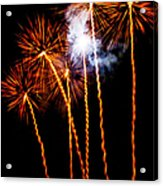 Fire Dandelion Bouquet Acrylic Print