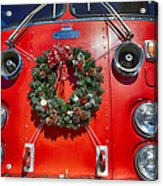 Fire Department Christmas 1 Acrylic Print