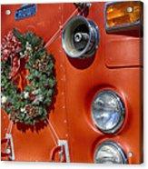 Fire Department Christmas 2 Acrylic Print