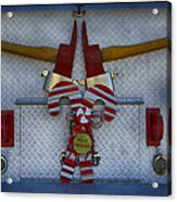 Fire Department Christmas 3 Acrylic Print