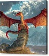 Fire Dragon Acrylic Print