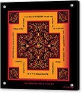 Fire Dragon Celtic Cross Acrylic Print