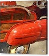 Fire Engine Pedal Car Acrylic Print