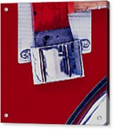 Fire Engine Red And Chrome Acrylic Print