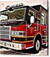 Fire Engine Red Acrylic Print