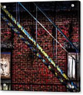 Fire Escape And Windows Acrylic Print