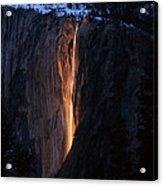 Fire Falls In Yosemite  Acrylic Print