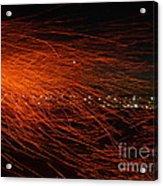 Fire Flakes Acrylic Print