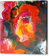 Fire Flower Abstract Acrylic Print