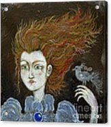 Fire Haired  Girl Acrylic Print