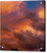Fire In The Clouds Acrylic Print
