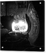 Fire In The Hole Bw Acrylic Print
