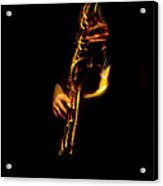 Fire In The Sax Acrylic Print