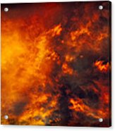 Fire In The Skies Acrylic Print