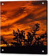 Fire In The Skies Acrylic Print by Rebecca Cearley