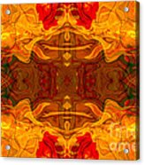 Fire In The Sky Abstract Pattern Artwork Acrylic Print