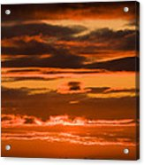 Fire In The Sky Acrylic Print by Anne Gilbert