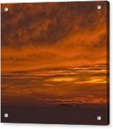 Fire In The Sky At Sunset Over The Gulf Of The Farallones Acrylic Print