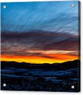 Fire In The Sky - Steamboat Sunset Acrylic Print