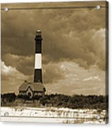 Fire Island Light In Sepia Acrylic Print