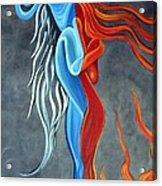 Fire N Ice Acrylic Print