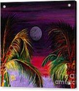 Fire Palms II Acrylic Print