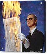 Fire Reader Acrylic Print