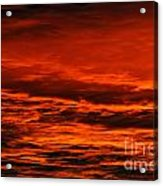 Fire Reds Sunset Acrylic Print