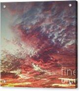 Fire Sky Acrylic Print by Holly Martin