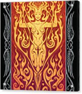 Fire Spirit V.2 Acrylic Print by Cristina McAllister