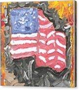 Fire Storm Flag Acrylic Print