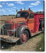 Fire Truck International Harvester C. 1946 Acrylic Print