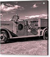 Fire Truck Too Acrylic Print by Lisa Cortez