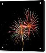 Fire Works In Sky Acrylic Print