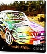 Firebird Expressive Brushstrokes Acrylic Print