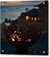Firebowl At Night Acrylic Print
