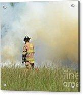 Firefighter 55 Acrylic Print