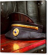 Firefighter - Hat - The Ex Chiefs Hat Acrylic Print by Mike Savad