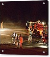 Firefighters At Work Acrylic Print
