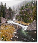Firehole Canyon - Yellowstone Acrylic Print