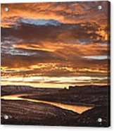 Firehole Sunset Acrylic Print