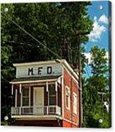 Firehouse Meshoppen Pennsylvania Acrylic Print