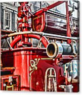 Fireman - Antique Brass Fire Hose Acrylic Print by Paul Ward