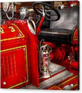 Fireman - Fire Engine No 3 Acrylic Print by Mike Savad