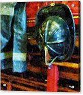Fireman - Fireman's Helmet And Jacket Acrylic Print