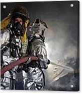 Fireman Acrylic Print