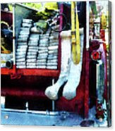 Fireman - Hoses On Fire Truck Acrylic Print