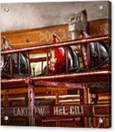 Fireman - Ladder Company 1 Acrylic Print by Mike Savad