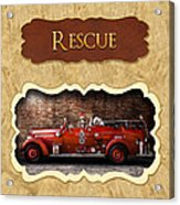 Fireman - Rescue - Police Acrylic Print by Mike Savad