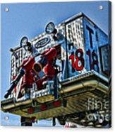 Fireman - The Fireman's Ladder Acrylic Print